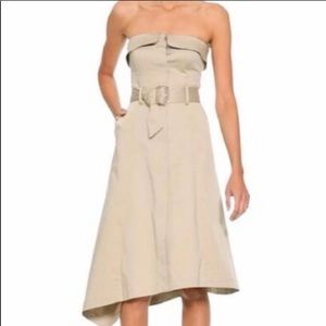 Banana Republic New Strapless Asymmetrical Hem M/6